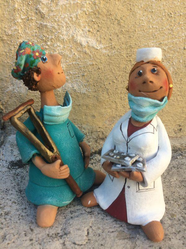 Доктор,керамическая фигурка,скульптура.