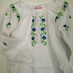 Рубашка с вышивкой для девочки