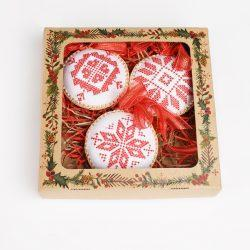 Набор ёлочных шаров (набор 3шт)