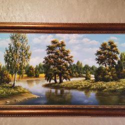 """Картина """"Дубы над водой"""""""