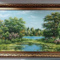 """Картина """"Заросший пруд"""""""