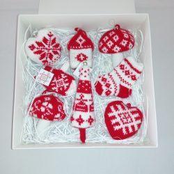 Елочная новогодняя игрушка с белорусским орнаментом