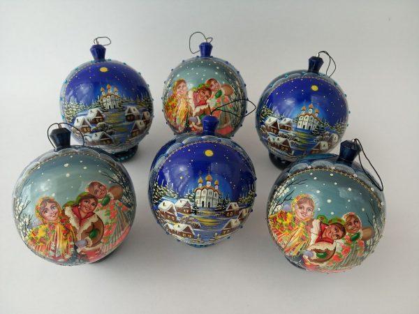 Новогодние шары с ручной росписью
