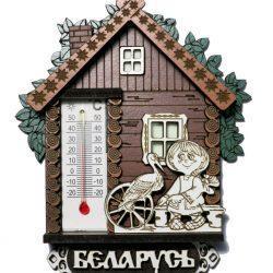 Магнит на холодильник с домашним термометром