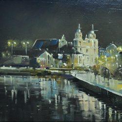 "Картина ""Минск. Вечерний дождь"""