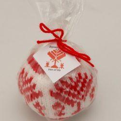Новогодний шарик с белорусским орнаментом