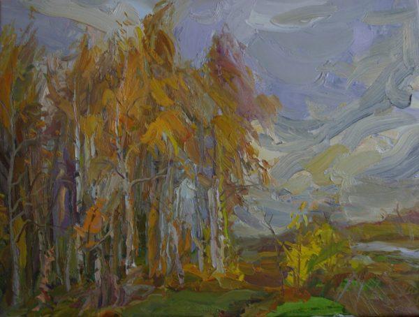 """Картина """"Полет цапли. Осень"""""""