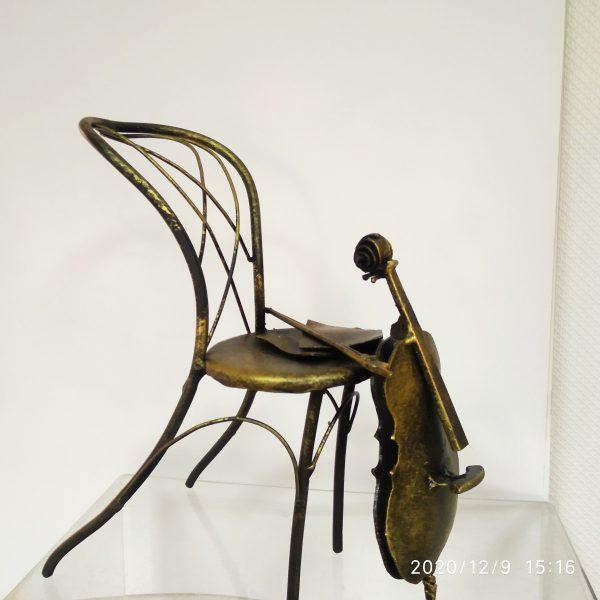 """Скульптура-подсвечник """"И музыка звучала..."""""""