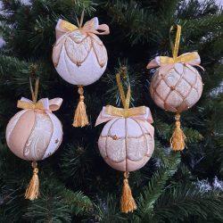 """Комплект новогодних шаров """"Морской бриз""""(4 штуки в подарочной упаковке (Копировать)"""