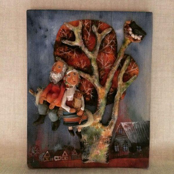 Декоративное панно.Подарок семье.Родовое гнездо.