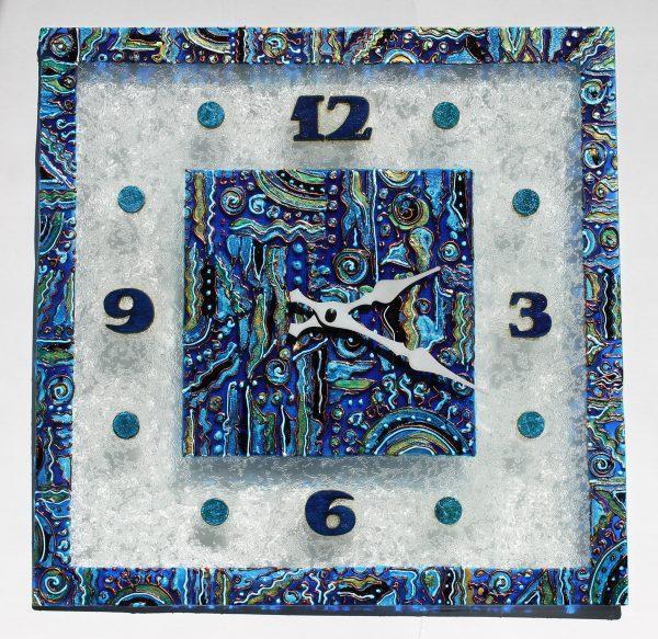 """Настенные часы """"Синяя фантазия"""""""