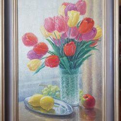 Картина ''Тюльпаны '' холст/масло 60х40см