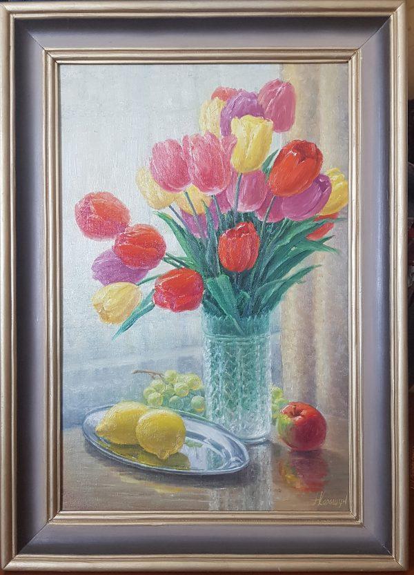 Картина '' Сирень '' 50/60 холст/масло