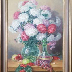 """картина """"Натюрморт с астрами"""" холст. масло. 70/50"""