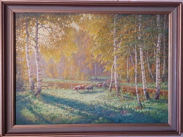"""картина  """"Полесский мотив"""" холст. масло. 65/90"""
