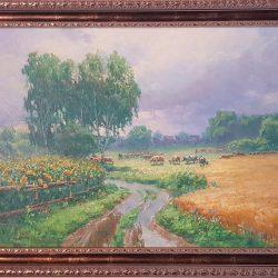 Картина '' Дождливый август '' холст, масло 50/70