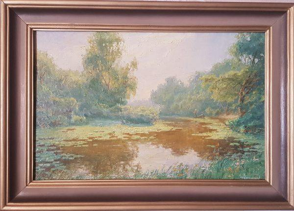 Картина '' Дождливый август '' холст/масло 50х70см