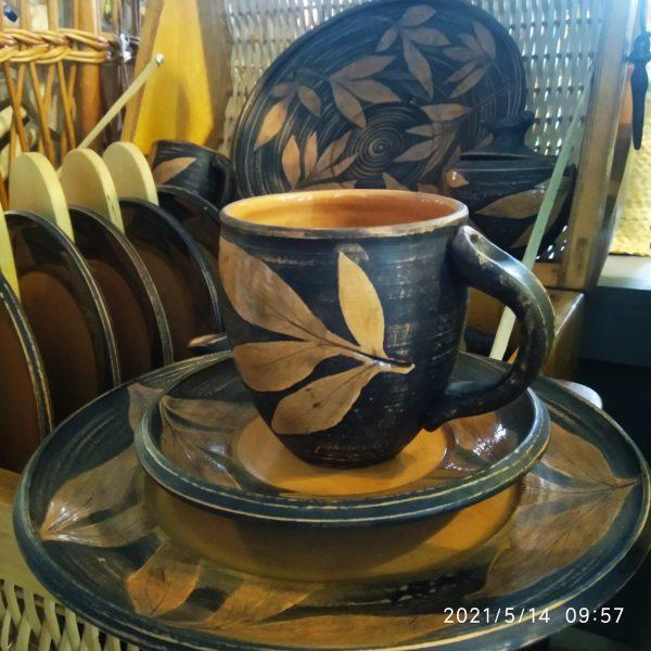 """Набор чайно-столовый (керамика, гончарка) """"Осень"""""""