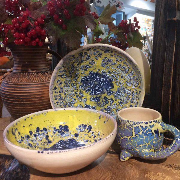 Художественная керамическая посуда