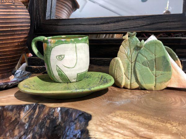 """Чайная пара """"Слоники"""" + салфетница"""